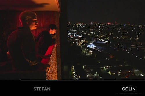 Mężczyźni na balkonie