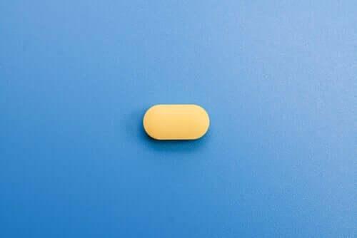 Żółta tabletka
