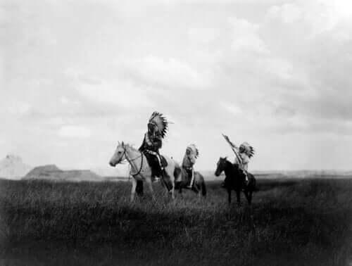 Indianie z plemienia Dakota