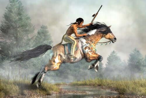 Siouks na koniu
