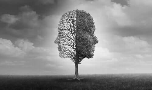 Profile twarzy ludzkiej w drzewie