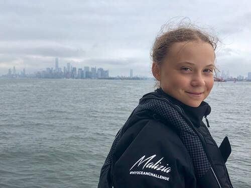 Greta Thunberg na jachcie