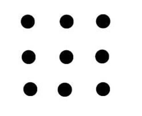 Dziewięć kropek