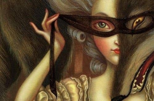 Kobieta w masce - fałszywość u ludzi