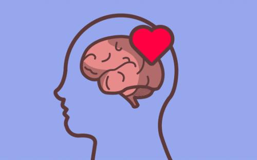 Ilustracja połączenia między mózgiem a sercem