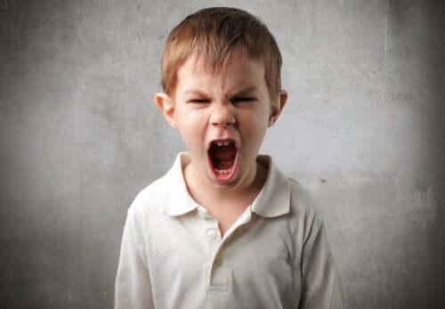 Krzyczący chłopiec