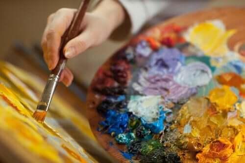 Malowanie farbami - kreatywność i zaburzenia afektywne dwubiegunowe