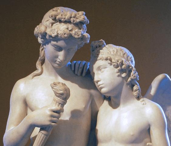 Kupidyn z latarnią Hymeneusza - rzeźba George'a Rennie
