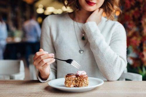 Ciastko w kawiarni