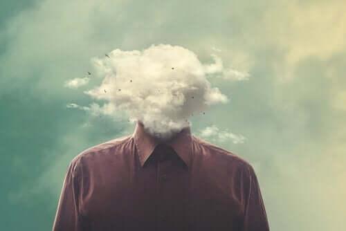 Mężczyzna z głową z chmur - Twoje myśli nie muszą być prawdziwe