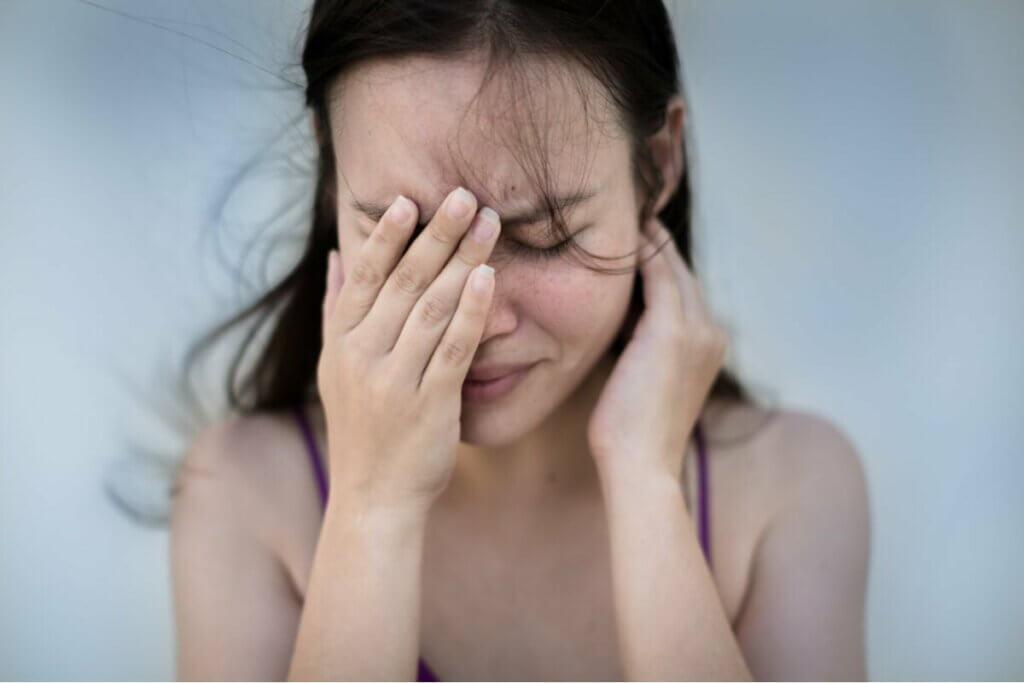 Zaniepokojona kobieta