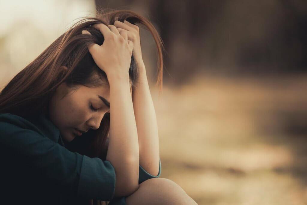 Przygnębiona kobieta