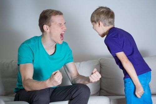 Rozgniewany ojciec