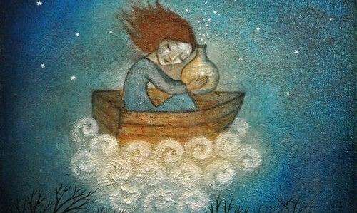 Kobieta w łodzi