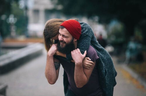 Przytulona para