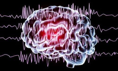 Ilustracja mózgu i fal podczas cyklu snu