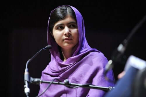 Malala Yousafzai podczas przemówienia