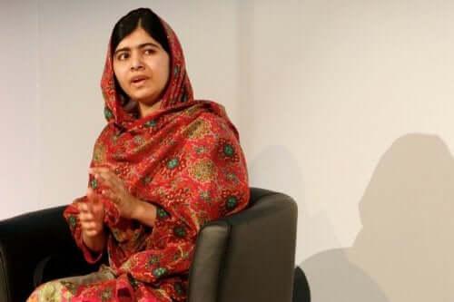 Malala Yousafzai podczas wywiadu
