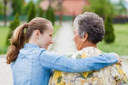 Wnuczka z babcią - jakość życia pacjentów z chorobami