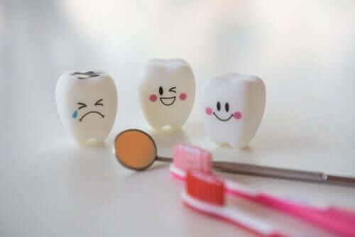 Zęby wyrażające miny