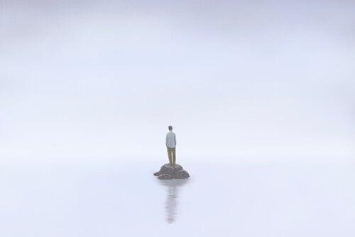 Mężczyzna na bezludnej wyspie