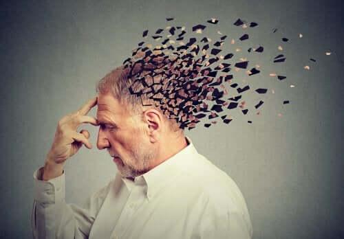 Mężczyzna z rozpadającą się głową