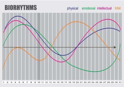 Przykładowy wykres biorytmu