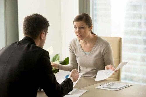 Kłótnia w biurze