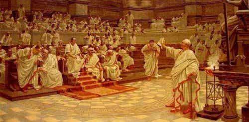 Rzymski senat - filozof Cyceron