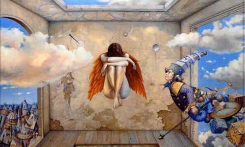 Skulony anioł