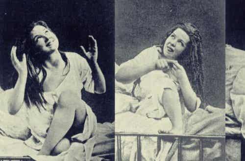 Kobieta cierpiąca na histerię